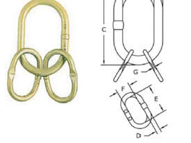 CRANE RIGGING HARDWARE A-347 Welded Master Link Assembly G 80 Fittings - picture1' - Click to enlarge