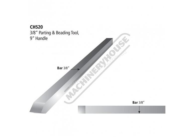 CH520 Parting & Beading Tool - HSS Wood Turning Tool 9.5mm (3/8