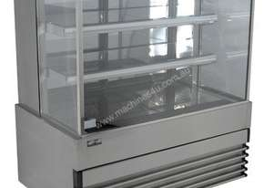 Koldtech KT.SQRCD.12 Square Glass Refrigerated Cake Display 3 Fixed Shelves - 1200mm