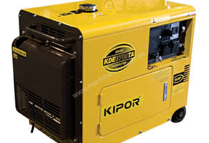 4.5kVA Kipor Single Phase Generator - Electric Start (KDE6700TA)
