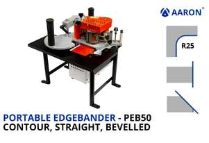 Portable Contour, Straight and Bevelled Edgebander | PEB50