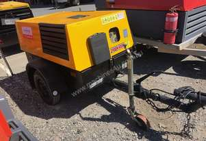 1999 Kaeser M38, 130cfm Diesel Air Compressor, 3 Month Warranty.
