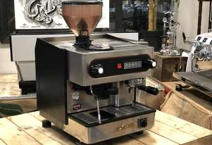 EXCEL SINGLE GROUP ESPRESSO COFFEE MACHINE WITH BUILT IN GRINDER CAFE