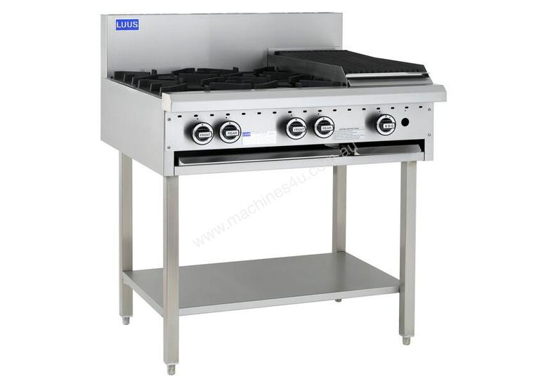 4 Burner 300mm Chargrill Cooktop with legs & shelf