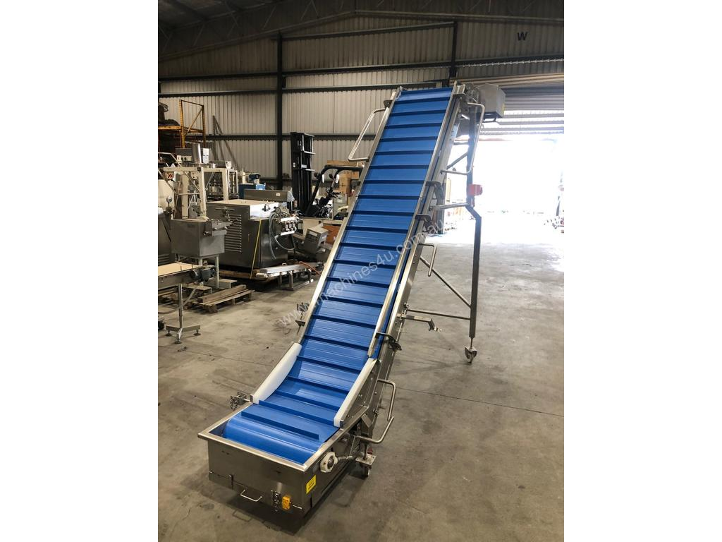 Used CONTECH ENGINEERING Cleated Conveyor Elevator in