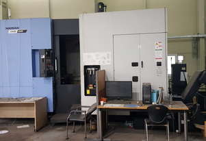 2016 Model Doosan NHM6300 CNC Horizontal Machining Centre. Twin pallet, 60ATC, Fanuc 31 CNC.
