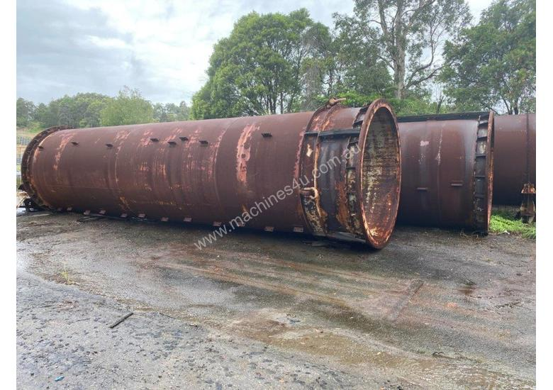 2500 mm ID heavy wall pipe, 30 mm wall thickness, 10 m long (2 pieces)