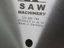 GERMAN CARBIDE-TIPPED SAW BLADES - NEGATIVE RAKE - SUITABLE FOR ALL DROP MITRE SAWS  - picture1' - Click to enlarge