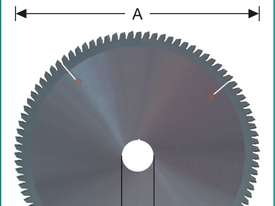 GERMAN CARBIDE-TIPPED SAW BLADES - NEGATIVE RAKE - SUITABLE FOR ALL DROP MITRE SAWS  - picture2' - Click to enlarge
