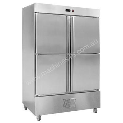 F.E.D. LD1000SC4B 2 Door Stainless Steel Upright With Bottom Units
