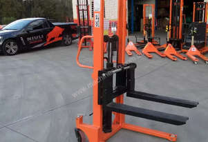Manual Narrow Pallet Stacker 1Ton 1.6m