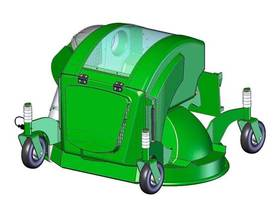 Avant 1200mm Collecting Lawn Mower for Mini Loader - picture6' - Click to enlarge