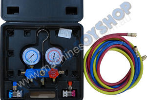 AIR CON MANIFOLD GAUGE KIT & HOSES