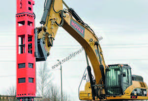 MOVAX DH-30 EXCAVATOR MOUNTED PILING HAMMER