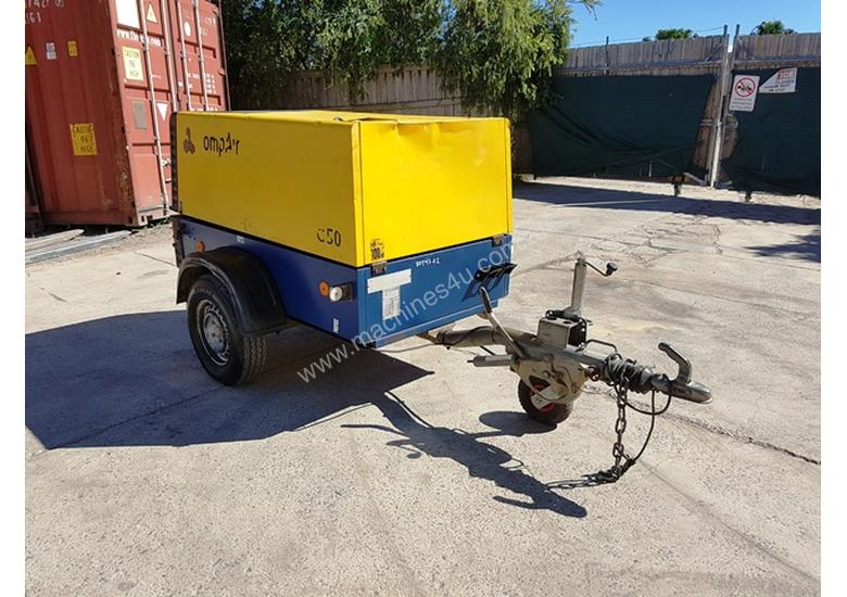 Compair C50 diesel 176 cfm compressors on heavy duty trailer chassis