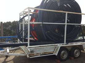 AGRICULTURAL PIPE CARRYING TRAILER WITH PIPES - picture3' - Click to enlarge