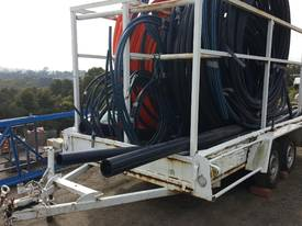 AGRICULTURAL PIPE CARRYING TRAILER WITH PIPES - picture4' - Click to enlarge