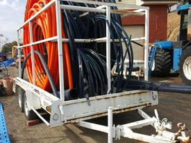 AGRICULTURAL PIPE CARRYING TRAILER WITH PIPES - picture1' - Click to enlarge