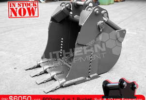 4 in 1 Bucket 600 mm suit 8-10 T Excavator ATTBUCK