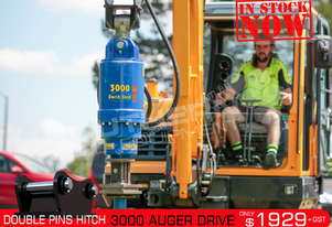 3000 MAX Auger Drive Unit. Suit 2 - 5 Ton Excavators ATTAGT