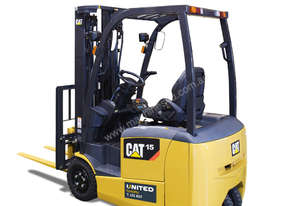 Caterpillar 1.5 Tonne 3-Wheel Electric Counterbalance Forklift