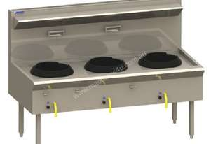 Luus WF-3C Traditional Wok with 3 Chimney Burners (Natural Gas or LPG) Asian Series