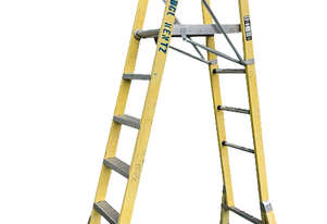 Branach Platform Ladder FPL 1.8 Meter Fiberglass Industrial Stock Picking