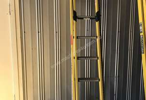 Branach Fiberglass & Aluminum Extension Ladder 2.7 to 3.9 Meter Industrial Quality