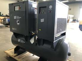 Screw Compressor 7hp (5.5kW) With tank and dryer - picture1' - Click to enlarge