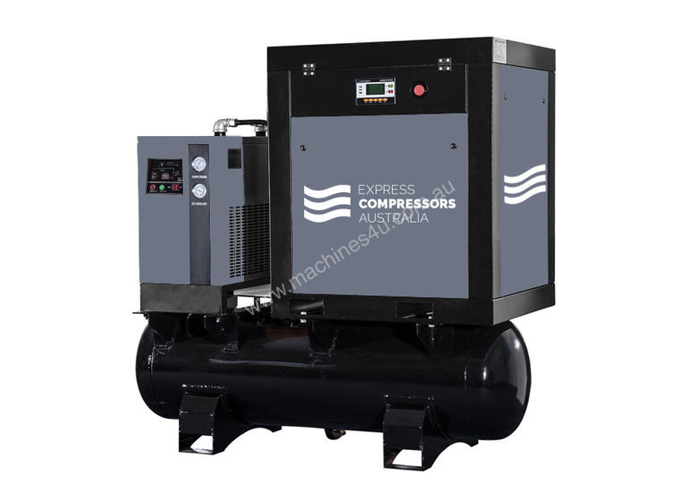 Screw Compressor 7hp (5.5kW) With tank and dryer