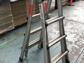 Mighty Max Telescopic Ladder Folding Aluminum 4.5 Meter 150 kgs SWL - picture0' - Click to enlarge