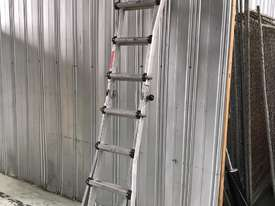 Mighty Max Telescopic Ladder Folding Aluminum 4.5 Meter 150 kgs SWL - picture7' - Click to enlarge