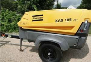 2010 Atlas Copco XAS185, 185cfm Diesel Air Compressor. 6 Month Warranty.
