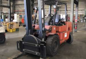 Nissan Forklift with the Rotary Attachment