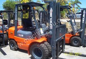 Heli Top Quality LPG Forklifts ready for work