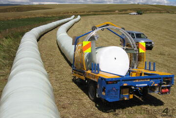 Superwrap Round Bale Tube Wrapper Can wrap round bales up to 1.5m in diameter