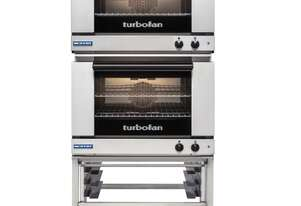 Turbofan E27M2/2 - Full Size Tray Manual Electric Convection Ovens Double Stacked