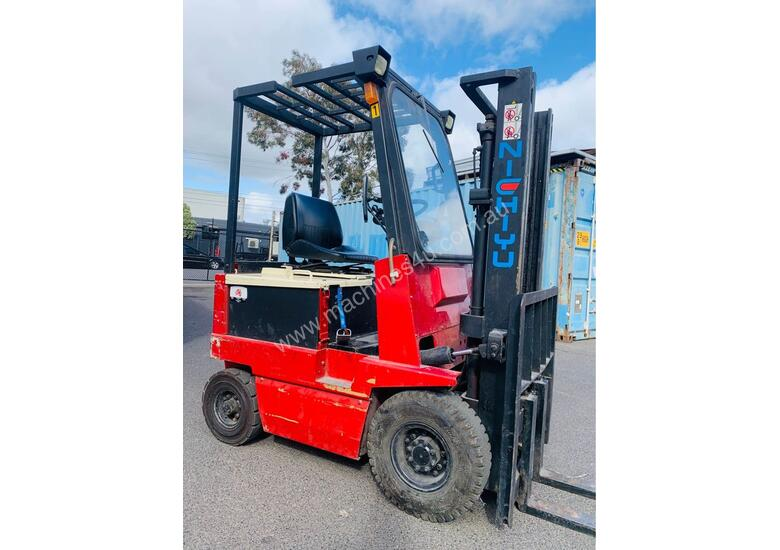 Nichiyu 1.8T Container Mast Electric FORKLIFT - 1600kg Capacity 3m Lift