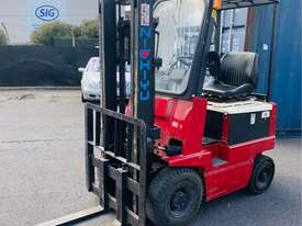 Nichiyu 1.8T Container Mast Electric FORKLIFT - 1600kg Capacity 3m Lift - picture0' - Click to enlarge