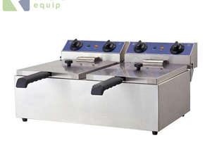 TWIN COMMERCIAL DEEP FRYER - ELECTRIC 20L EF-102