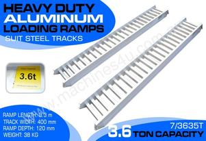 3.6 Ton Aluminium Loading Ramps for steel tracks