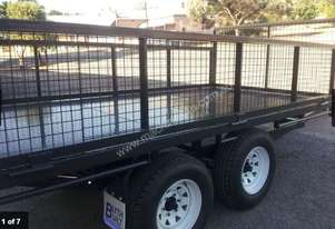 Blyth Built Chemical flat bed trailer