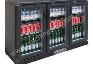 SC316G Three Door BLACK MAGIC Drink Chiller