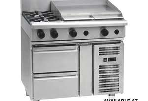 Waldorf 800 Series RNL8606G-RB - 900mm Gas Cooktop Low Back Version `` Refrigerated Base