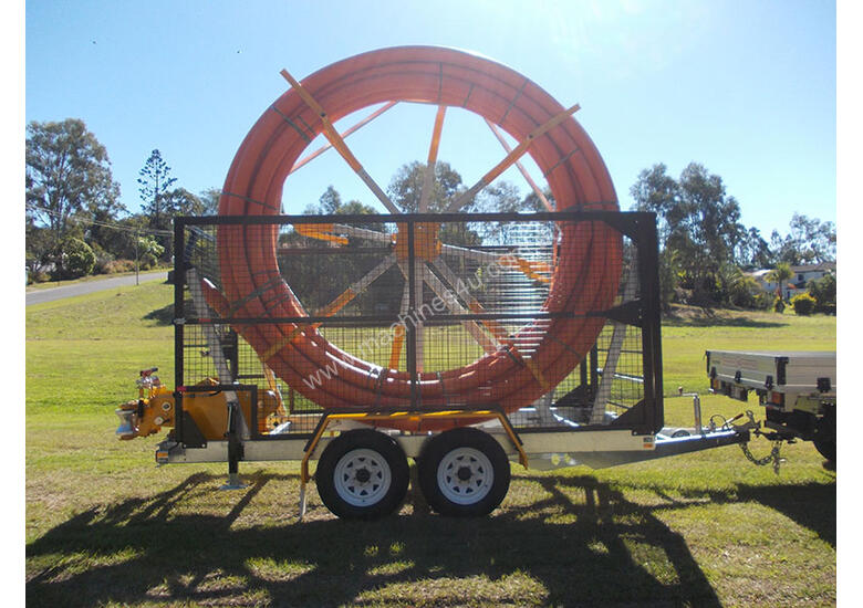 Conduit Trailer and Straightener Cable Trailer