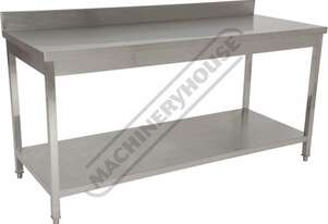 SSB-18WS Stainless Steel Work Bench 1800 x 700 x 900mm 700kg Total Load Capacity