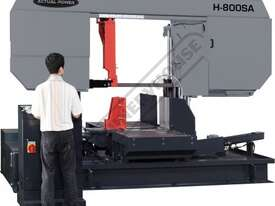 H-800SA Semi Automatic Double Column Heavy Duty Metal Cutting Band Saw 800 x 800mm (W x H) Square Ca - picture0' - Click to enlarge
