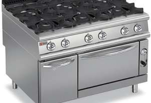 Baron 9PCF/G1205 Six Burner Gas Cook Top with Gas Oven