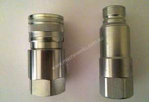 NEW 1/2 FLAT FACE QUICK COUPLING { HIGH PRESSURE R