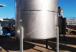 Stainless Steel Mixing Tank (Vertical), Capacity: 10,000Lt